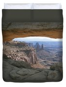 Mesa Arch In Utahs Canyonlands National Duvet Cover