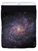 Messier 33, Spiral Galaxy In Triangulum Duvet Cover by Robert Gendler