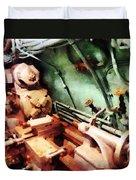 Metal Lathe In Submarine Duvet Cover