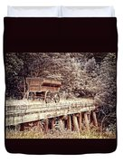 Metal Wagon On The Trestle Duvet Cover