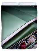 Metalic Green Impala Wing Vingage 1960 Duvet Cover