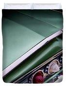 Metalic Green Impala Wing Vingage 1960 Duvet Cover