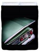 Metalic Green Impala Wing Vingage 1960 Duvet Cover by Douglas Pittman