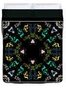 Metallic Flourishes Warp Duvet Cover