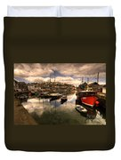 Mevagissy Harbour Duvet Cover