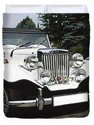 Mg Classic Car Duvet Cover