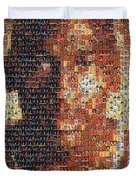 Michael Jordan Card Mosaic 1 Duvet Cover
