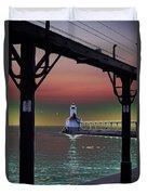 Michigan City Lighthouse 2 Duvet Cover