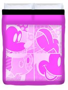 Mickey In Negative Pink Duvet Cover