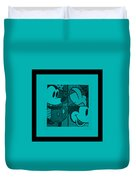 Mickey In Turquois Duvet Cover