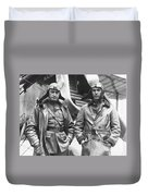 Mid-air Refueling Aviators At Rockwell Duvet Cover