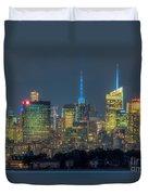 Mid-town Manhattan Twilight I Duvet Cover