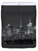 Mid-town Manhattan Twilight II Duvet Cover