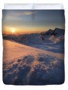 Midnight Sun Above Lilletinden Duvet Cover