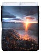 Midnight Sun Over Vågsfjorden Duvet Cover