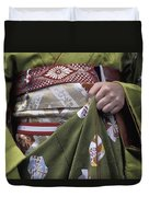 Midsection Of Apprentice Geisha - Maiko Duvet Cover