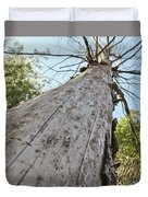 Mighty Tree And The Bark Beetle Duvet Cover