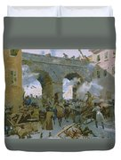 Milanese Chasing Out Austrians Duvet Cover
