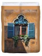 Milano Apartment Window Duvet Cover