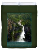 Milford Sound Waterfall Duvet Cover