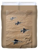 Military Fighter Jets Fly In Formation Duvet Cover