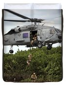 Military Reserve Navy Seals Demonstrate Duvet Cover by Michael Wood