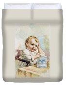 Milk Trade Card, 1893 Duvet Cover