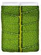 Milkweed Leaf Duvet Cover by Steve Gadomski