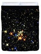 Milky Way Star Cluster Duvet Cover