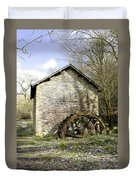 Mill And Water-wheel Near Ashford-in-the-water Duvet Cover