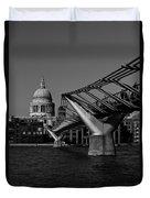 Millenium Bridge And St Pauls Cathedral Duvet Cover