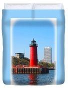 Milwaukee Harbor Lighthouse Duvet Cover