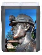 Miner Statue Duvet Cover
