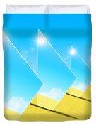 Mirrors On Sand In Blue Sky Duvet Cover