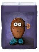 Misfit Potato Head 3 Duvet Cover