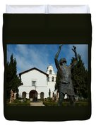 Mission San Juan Bautista Duvet Cover by Jeff Lowe