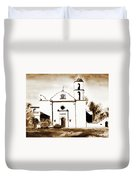 Mission San Luis Rey In Sepia Duvet Cover by Kip DeVore