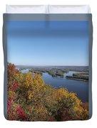 Mississippi River Fall Duvet Cover