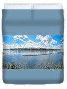 Mississippi River Panorama Duvet Cover