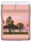 Mist Morning Sunrise Duvet Cover