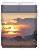 Misty Country Sunrise  Duvet Cover