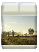 Misty Lines Duvet Cover