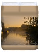 Misty Morning On The Grand Union Canal Duvet Cover