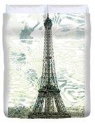 Modern-art Eiffel Tower 12 Duvet Cover