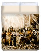 Modern Battle Field Duvet Cover