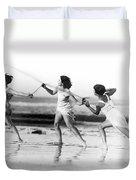 Modern Dance On The Beach Duvet Cover