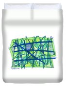 Modern Drawing Ninety-nine Duvet Cover