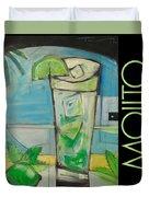 Mojito Poster Duvet Cover