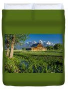 Molton Barn And Trees Duvet Cover