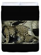 Mom And Baby Cheetah Duvet Cover